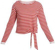 Only Onlamy L/s Short Stripe Knot Swt, Felpa Donna, (High Risk Red), 38 (Taglia Produttore: Medium)