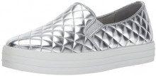 Skechers Double Up-Duvet, Sneaker Infilare Donna, Argento (Silver), 39 EU