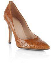 Embossed crocodile pattern court shoe 'Claudy'