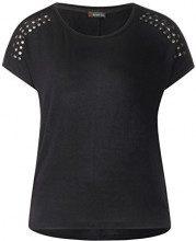 Street One 312530 T-Shirt Donna, Nero (Black 10001) 42