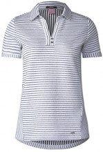 Cecil 312012, T-Shirt Donna, Multicolore (White 20000), S