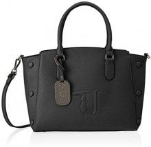 Trussardi Jeans Melissa Tote Medium Bag Covered Studs, Borsa Donna, Nero (Black On Tone), 21x24x13.5 cm (W x H x L)