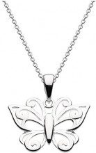 Dew - Collana con ciondolo a forma di farfalla in argento Sterling, lunghezza 45,7 cm