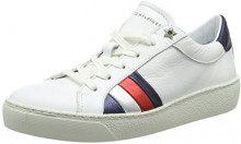 Tommy Hilfiger Corporate Iconic Sneaker, Scarpe da Ginnastica Basse Donna, Bianco (White 100), 40 EU