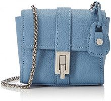Trussardi Jeans Suzanne, Borsa a Tracolla Donna, Blu (Light Blue), 18x14.5x8 cm
