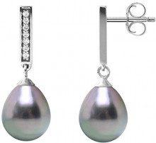 Pearls & Colors Orecchini a pendolo e goccia Donna - AM18-BOAG-904-P8-TAH