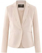 oodji Ultra Donna Blazer Basic Aderente, Beige, IT 46 / EU 42 / L
