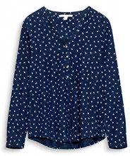 ESPRIT 107ee1f006, Camicia Donna, Multicolore (Navy 400), 38