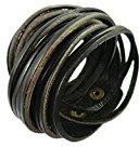 Original Tribe Wrap Bracelet Bangle Bracciale in pelle da donna Bracciale in pelle Bracciale Uomo braccialetto di cuoio del polsino Sl2516 (nero)