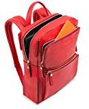 Piquadro Zaino Collezione Sirio, Pelle, Rosso, 34 cm