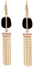 Lola Rose Donna    base metal Rotonda   nero Agata FASHIONEARRING