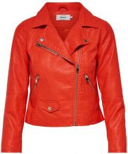 Only Giacchetto Only Nero - SUMMER FAUX LEATHER CROP BIKER - 15144751