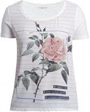 Only Onlrhina S/S Rose/City Top Box Ess, T-Shirt Donna, Bianco (Cloud Dancer Print:Rose), S