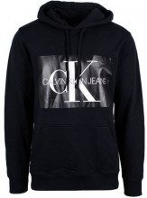 Calvin Klein Felpa con cappuccio Calvin Klein Jeans Nero - MONOGRAM BOX LOGO REG HOODIE - J30J307745