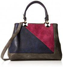 SwankySwans Violet Color Block Handbag - Borse Tote Donna, Grigio (Dark Grey), 12x28x30 cm (W x H x L)