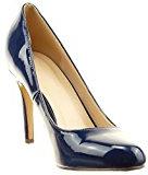 Sopily - Scarpe da Moda scarpe decollete stiletto alla caviglia donna verniciato Tacco Stiletto tacco alto 9 CM - soletta sintetico - Blu