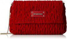 Love Moschino Borsa Fabric Rosso - Borse a tracolla Donna, Rot (Red), 17x28x5 cm (B x H T)