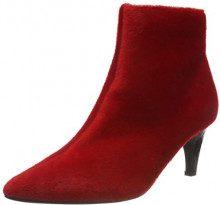 Lost Ink Jolie Clean Kitten Heel Boot, Stivaletti Donna, (Red 0055), 36 EU