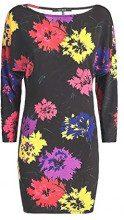 Guess Ella Dress, Vestito Donna, Flowers Black Pc50, Large (Taglia Produttore:L)