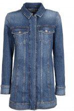Giacca in jeans con bottoni logati 001