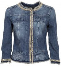 Giacca in jeans modello Kate con catena 77556DENBLUE