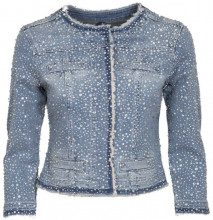 Giacca in jeans modello Kate con strass 77642DENBLUE