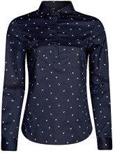 oodji Ultra Donna Camicia con Tasche Pettorali, Blu, IT 40 / EU 36 / XS