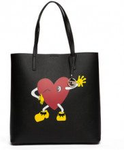 Shopping bag cuore nera