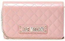 Love Moschino Quilted Nappa Pu Pochette da giorno Donna, (Rosa), 15x10x15 cm (W x H x L)