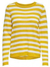 Only Onldorthea L/s Pullover Knt Felpa Donna, Giallo (Solar Power Stripes: W Cloud Dancer) 46 (Taglia Produttore: Large)