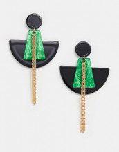 Orecchini pendenti neri e verdi