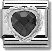 Nomination 330603/011 - Bead componibile da donna con zirconia cubica, acciaio inossidabile