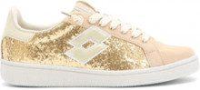 Sneakers bassa da donna Autograph oro e cammello