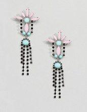 Orecchini pendenti con gioielli e cristalli