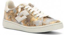 Sneakers bassa Autograph da donna beige e oro.