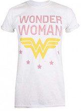 DC Comics Wonder Woman-WW Stars, T-Shirt Donna, Bianco, 44 (Taglia Produttore:Medium)