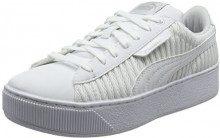Puma Vikky Platform EP Q2, Sneaker Donna, Bianco White, 40.5 EU