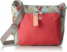 Oilily Charm Ornament Shoulderbag Mhz - Borse a spalla Donna, Turchese (Light Turquoise), 13x23x27 cm (B x H T)