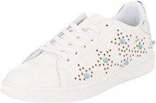 Gaudì Coco, Sneaker Donna, Bianco, 37 EU