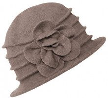 Urban GoCo Donne Elegante Fiori Beret Beanie Hat Secchio Feltro di Lana Cappello Benna Cloche Berretto (#2 Khaki)