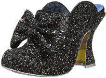 Irregular Choice Glitter Queen, Sabot Donna, Nero (Black D), 39 EU