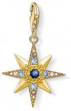Thomas Sabo Donna Ciondolo Charm Royalty stella Charm Club 925 Argento Sterling placcato oro 1714-959-7