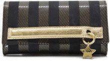 Pochette nera e oro con catena rimovibile 7806BLACK/GO