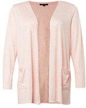 Tom Tailor Denim Gro\u00dfe Gr\u00f6\u00dfen-Weiche Strickjacke, T-Shirt Donna, Rosa (Blush Pink Melange 16553), 54 (Taglia Produttore: 48)
