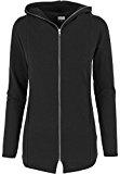 Urban Classics Melange maglione donna in felpa con cappuccio con cerniera e cappuccio Long