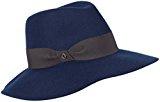 loevenich classico–Cappello Fedora feltro donna con falda e–Nastro gros-grain (Nero/Grigio/Navy)