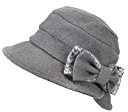 Surker Vintage Style Donne Bacino Cappello di lana Bombetta