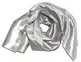 Stola in raso/coprispalla per abito da sera o abito da sposa, ca. 140x 50cm, un lato lucido/il retro un po' opaco