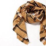 Natural Feelings morbido accogliente grande scozzese griglia di strisce lungo donne grosso sciarpa impacchi
