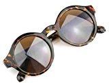 RHX - Occhiali da sole da uomo in stile vintage, protezione UV 400, leopardati